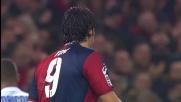 Julio Cesar intercetta il bolide di Toni in Genoa-Inter