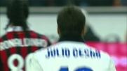 Julio Cesar neutralizza il rigore di Ronaldinho nel derby di Milano