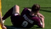 Paulinho non riesce a beffare Rafael con un colpo di testa