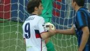 Al Meazza Boselli di testa segna il secondo goal del Genoa contro l'Inter