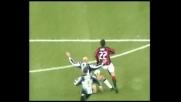 Kakà, controllo e piazzato vincente per il goal del Milan