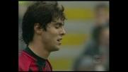 Kakà fermato dal palo in Milan-Udinese