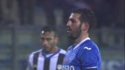 Karnezis para il rigore calciato da Saponara in Empoli-Udinese
