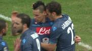 Inserimento di Gabbiadini e goal vittoria del Napoli ai danni dell'Udinese