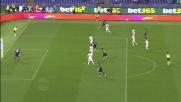 Keita ci prova in acrobazia contro la Fiorentina ma la palla sfila a lato