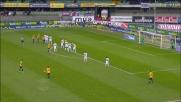 Goal di testa di Pisano su punizione di Marrone: l'Inter va sotto contro l'Hellas