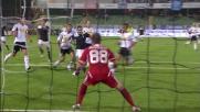 Klose è autore del goal vittoria della Lazio sul Cesena