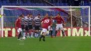 Roma in vantaggio nel derby con la rete di Totti