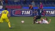 Kolarov interviene in scivolata su Eto'o e salva la Lazio contro l'Inter
