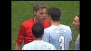 Kolarov viene espulso per una brutta entrata su Yepes