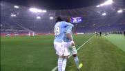 Konko realizza il goal del pareggio per la Lazio contro il Cagliari
