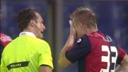 Kucka ribatte di faccia la punizione della Fiorentina