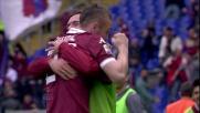 Kurtic piazza il pallone alle spalle di berisha e segna il goal del momentaneo pareggio per il Torino