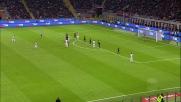La barriera del Milan devia la punizione di Pjanic, niente goal della Juventus