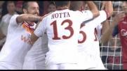 La deviazione maligna di Totti finisce in rete al Marassi