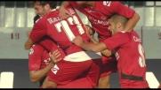 La deviazione vincente di Danilevicius vale il goal che illude il Livorno