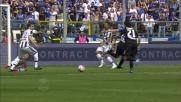 La difesa dell'Udinese respinge per due volte l'assalto dell'Atalanta