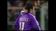 La Fiorentina accorcia le distanze grazie al goal di Miccoli