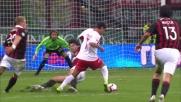 La giocata di Rivas per poco non è vincente contro il Milan