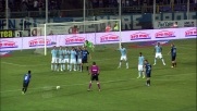 La parata di Marchetti nega il goal a Maxi Moralez