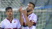 La parata di Marco Festa rimanda la gioia del goal per Pavoletti e il Genoa