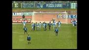 La punizione di Baggio finisce sulla traversa, la Lazio si salva