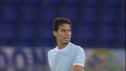 La punizione di Hernanes contro la Fiorentina finisce di poco a lato