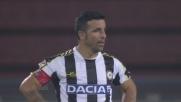 La punizione velenosa di Di Natale termina in rete: è il goal vittoria in Udinese-Genoa