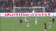 La traversa di Kharja a Marassi contro la Juventus