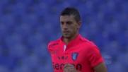 La traversa nega a Pucciarelli un gran goal contro la Lazio