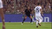 Lamanna allontana il destro da Sau in Genoa-Cagliari