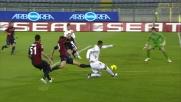 Lamela sfiora il goal sotto porta contro il Cagliari