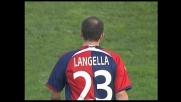 Langella, entrataccia su Belleri e cartellino rosso