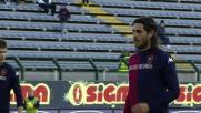 Larrivey dal dischetto segna il goal che sblocca il match Cagliari-Genoa