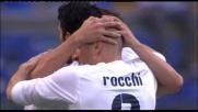 L'attaccante della Lazio Floccari risponde al goal di Bergvold e realizza l'1-1