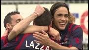 Lazzari porta in vantaggio il Cagliari su punizione