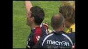 Lazzari, sinistro all'incrocio per il goal del raddoppio del Cagliari