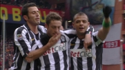 Le incredibili carambole sulla conclusione di Marchisio portano in vantaggio la Juventus