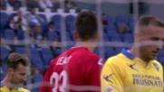Leali in tuffo respinge il tiro di Felipe Anderson