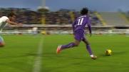 L'espulsione di Ledesma per fallo su Cuadrado in Fiorentina-Lazio