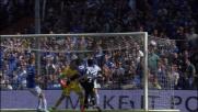 L'incornata di Zapata finisce a lato di un soffio contro la Sampdoria