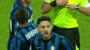 L'ingenuità di D'Ambrosio costa cara all'Inter: cartellino rosso per doppia ammonizione