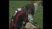 L'intervento disperato di Tonetto su Maldini salva il Lecce