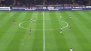 Llorente conclude in goal un'azione insistita della Juventus e sblocca il match di San Siro contro il Milan
