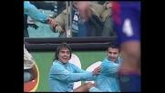 Lopez porta in vantaggio la Lazio grazie a un'invenzione di Stankovic