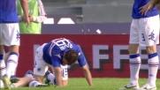 Luci contrasta in maniera irregolare Regini in area: rigore per la Sampdoria