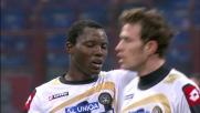 L'Udinese accorcia le distanze con il goal di testa di Floro Flores