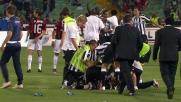 L'Udinese festeggia la qualificazione in Champions