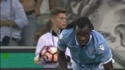 Lukaku insegue e ferma con un tackle Zapata in Udinese-Lazio