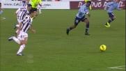 Pinzi realizza il goal del pareggio all'Olimpico contro la Lazio